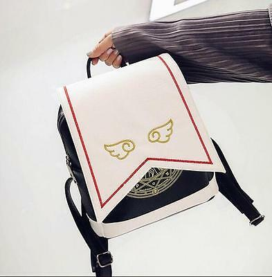 Hot Anime Card Captor Sakura Backpack Kinomoto Lolita Magic School Shoulder Bag