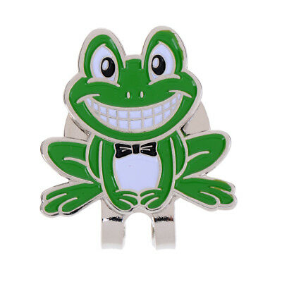 Lightweight Alloy Golf Ball Marker Magnetic with Hat Clip Funny Frog