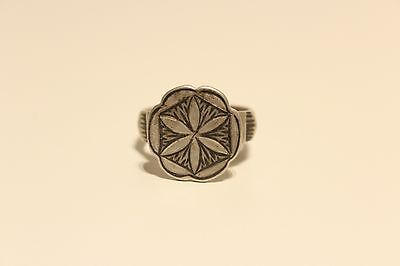 Antique Post Medieval Hand Made And Hand Carved Niello Silver Men's Ladies Ring