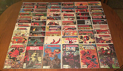 LOT OF 61 NM DEADPOOL COMICS: Vol 3, 4, 5 + VARIANTS, & Specials Team Up Marvel