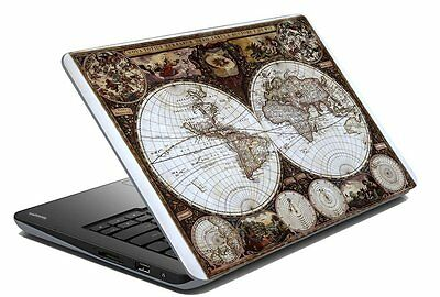 """Map Laptop Skin Notebook Skin Sticker Cover Art Decal Fits 14.1"""" to 15.6""""2c"""