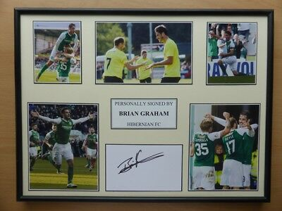Hibernian Hand Signed Multi Picture Displays - £25 each - Various Players