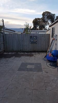 CONCRETE PAVERS 300x300x40mm thick in cream with charcoal border