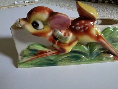 Vintage Deer/Bambi Wall Pocket Japan