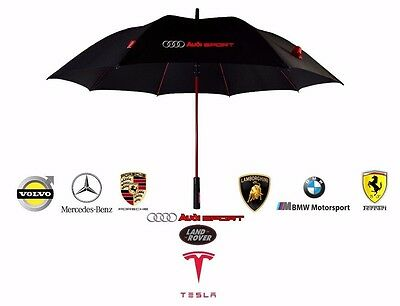 Premium Quality Umbrella Strong Golf Folding Automatic Windproof Brolly AUDI BMW
