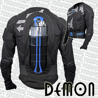 DEMON Shield Top - Snowboard Protection for Upper Body, Torso, Spine, Elbows
