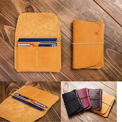 Passport Holder Genuine Leather Unisex Holds 2 Passports + 2 Cards Made In EU