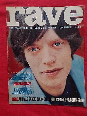 Rave Magazine No.11 1964 Mick Jagger cover (Stones/Beatles/Hollies/Animals)