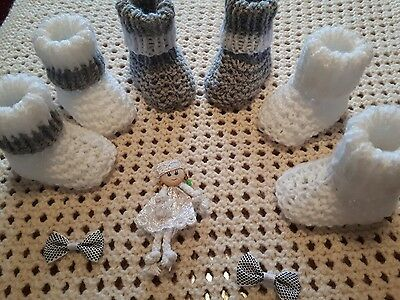 baby clothes 3 pair shoes 0-3 months