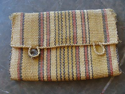 Vintage Antique Woven Purse Wallet Native American Sweet Grass ? Hand Crafted