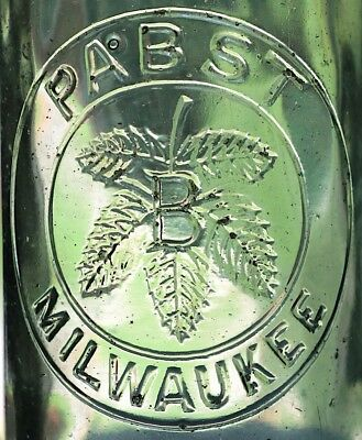 Cool Embossed Pabst Beer Bottle, Milwaukee, Price Reduced!