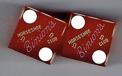Early Binions Horseshoe Casino Las Vegas Downtown Fremont St  Pair Of Dice