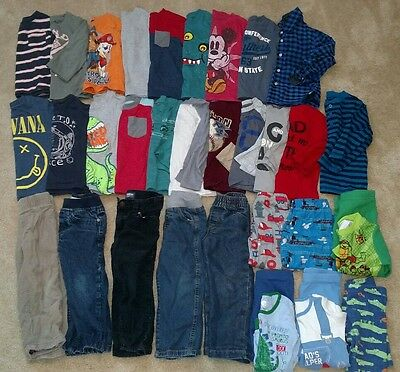 HUGE 34 Piece Lot Baby Boy Clothes Size 2T Toddler