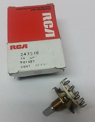 Rca Rotary Switch 241510 Control Head  2Pol/4Pos  Nos Rca Mobile Radio