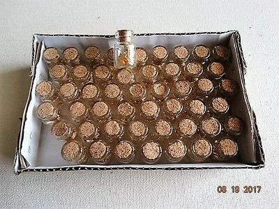20 Gold Flakes glass vials, 24K Gold ,bottles wedding favors,gifts, resale