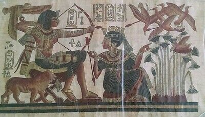 Rare Authentic Hand Painted Egyptian Papyrus New