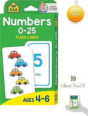 Numbers Flash Cards Numbers 0-25 Educational Baby Toddler Child Counting New