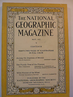 National Geographic, May 1927 englisch