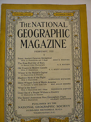 National Geographic, February 1935 englisch