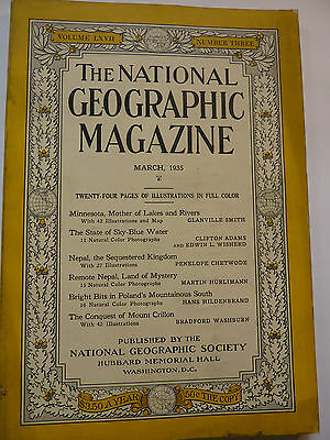 National Geographic, March 1935 englisch
