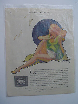 1930 Body by Fisher Excellent Coachcraft McClelland Barclay Art Vintage Print Ad