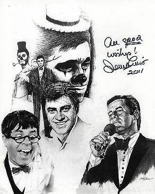 JERRY LEWIS autographed 8x10 photo          MANY FACES OF A HOLLYWOOD LEGEND