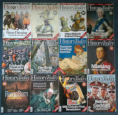 HISTORY TODAY magazines FULL YEAR 2011 x12 (twelve) issues