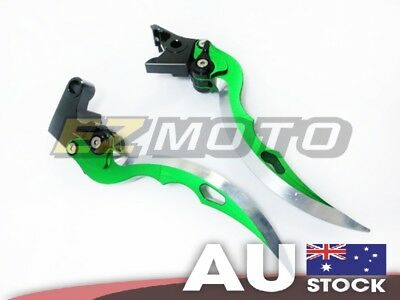 Ninja Blade Brake Clutch Levers Green fit Suzuki HAYABUSA GSXR 1300 08-15 10 11