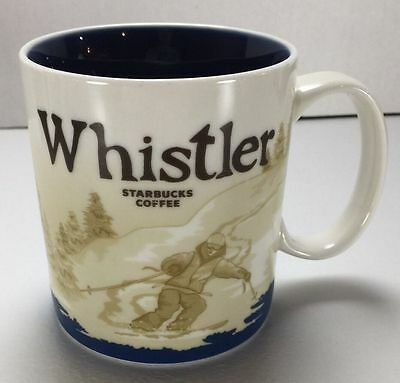 Starbucks Coffee Mug 2009 Whistler Ski Vancouver BC Collector Series 16 Oz