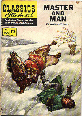 Classics Illustrated #159 MASTER AND MAN Leo Tolstoy Rare 1/3d UK-only edn.1962!