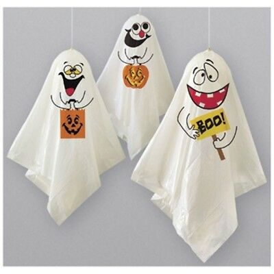 """3 Whimsical Ghosts Hanging Halloween Balloon Decorations 33"""""""