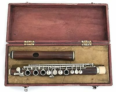 Antique Conical French Boehm System Piccolo in Db - MILLEREAU Brevete Paris