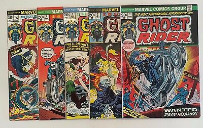 Ghost Rider (1973 1st Series) #1, 2, 3, 4, 5 (1st Appearance Daimon Hellstrom)