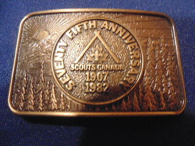 Boy Scouts Canada Belt Buckle,75Th Anniversary.1907-1982