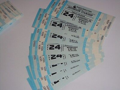 10 JEFFERSON STARSHIP Grace Slick UNUSED 1982 CONCERT TICKETS TINGLEY COLISEUM