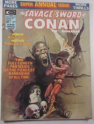 Savage Sword Of Conan The Barbarian Magazine Super Annual #1 1975 Barry Smith