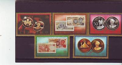 a130 - LESOTHO - SG696-700 MNH 1986 1st ANNIV OF NEW CURRENCY
