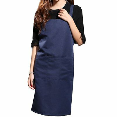 Waterproof Apron Durable&Adjustable for Cooking/Cleaning Unisex Dark Blue