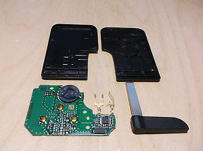 Renault Megane 2, Scenic key card (repair kit) no chip PCF7947