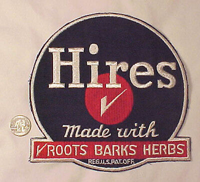 Vintage Hires Root Beer Gauze Backed Jacket Patch Mint