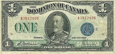 Dominion Of Canada $1 Dollar 1923 - Blue Seal - Lovely Fresh & Attractive Note