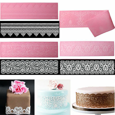 Lace Silicone Mold Mould Sugar Craft Fondant Mat Decorating Baking Tools