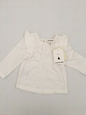 Country Road Baby Girl Long Sleeve Tee 3-6 Months BNWT
