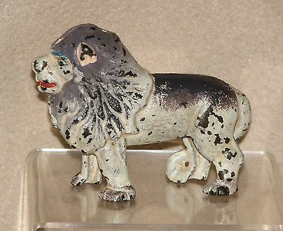 Vintage Cast Iron Lion With Ears Up Still Bank