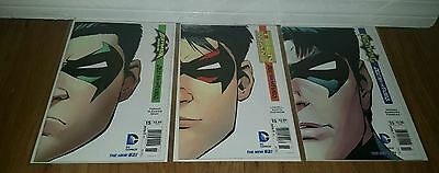 Teen Titans Nightwing Batman & Robin Death Of The Family Lot Variant Covers Nm