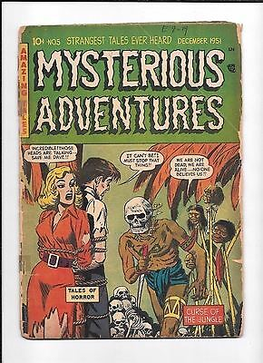 Mysterious Adventures #5 ==> Gd Curse Of The Jungle Pre-Code Horror 1951