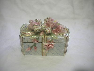 Fritz and Floyd Essentials Porcelain Trinket Jewelry Box Flower Present Shape