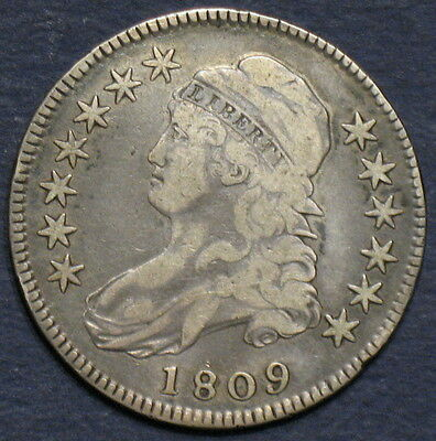 1809 Capped Bust Half Dollar, O-104 R5, Rare Die Variety, Reasonably Priced!