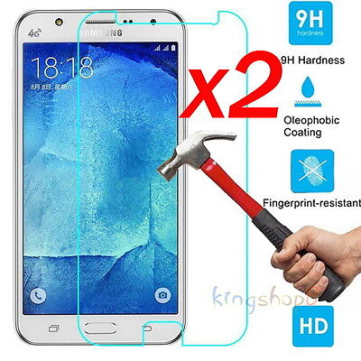 2x Tempered Glass Screen Protector Film for Samsung Galaxy J1 2 3 5 7