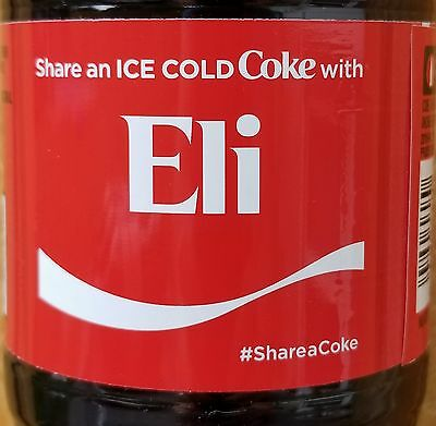 Brand New 2017 Share A Coke With Eli 20 oz Coca Cola Collectible Bottle